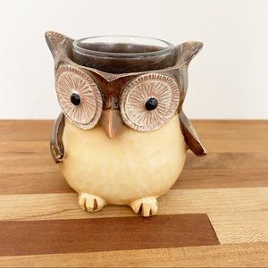 Adorable Owl Resin Votive Candle Holder NWT